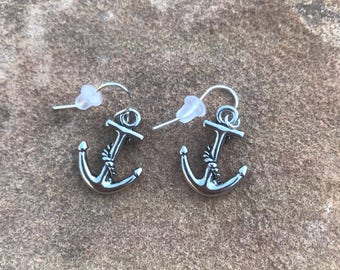 Anchor Dangle Earrings - Drop Earrings - Valentine's Day - Birthday - Jewelry - Accessories