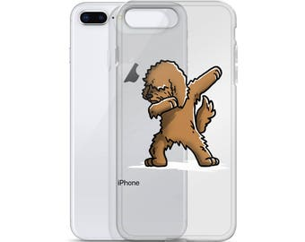 Funny Dabbing Goldendoodle iPhone Case, Cute Goldendoodle Gift, Doodle Dog Dab Dance Phone Case