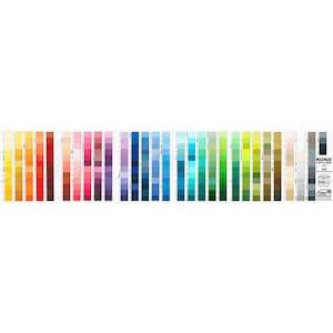 Robert Kaufman KONA cotton Solid color card 340 colors Newest Version!