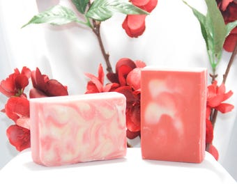 Hugs and Kisses, Valentine's Day, Goat Milk Soap, Homemade