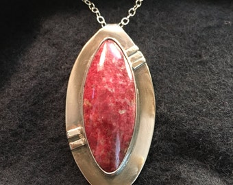 Sterling Pendant Featuring Red Thulite