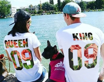 King and Queen shirts couple t shirt couple tees King Queen couple tshirts wedding gift anniversary gift 100% cotton Tee, UNISEX