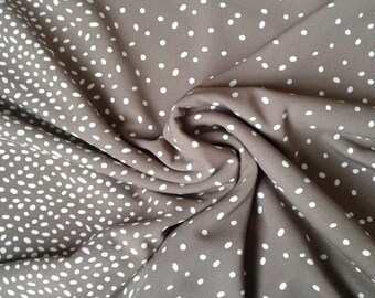 Jersey knit fabric by the yard Beige Polka dot Polyester fabric Stretch knit Cardigan Sweater knit fabric bundle print French terry