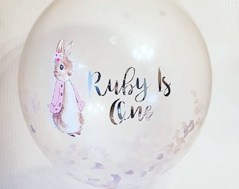 Peter Rabbit or Flopsy Personalised Party or Christening Balloon 16 Inch Balloon