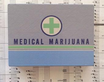 Medical Marijuana - Tin Watercolor Palette, Mini Watercolor Palette, Fun, Gift, Travel Palette, Stash Box