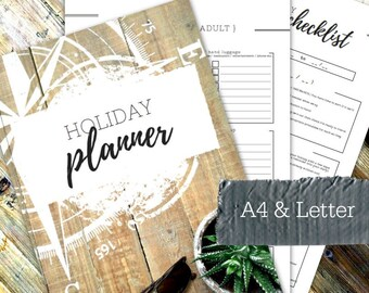 HOLIDAY & OUTINGS PLANNER - Printable planner - Instant Download - Home Management Binder - Home File - 36 page pdf in A4 and Letter sizes