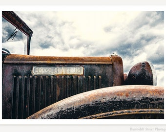 Dodge Brothers - Old Pickup Truck Photograph - Vintage Truck Photography - Man Cave Classic Car Photo - Rusty Old Truck Wall Art