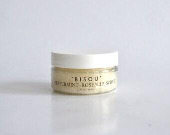 Peppermint Rose Lip Scrub, Lip Scrub, All Natural, With Aloe Vera