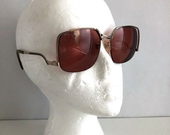Vintage Women's Glasses 70's Tura, Prescription Glasses, Square, Oversize, Disco Frames