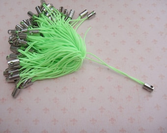 Set of 50 attached phone strap color light green