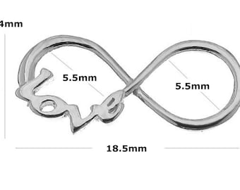 Sterling Silver 18.5mm Infinity Love Charm