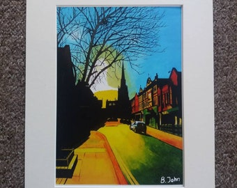Limited edition - Rotherham Minster - from an original painting by Bryan John