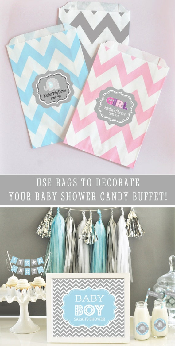 Baby Shower Candy Buffet Bags Baby Shower Goodie Bags Baby