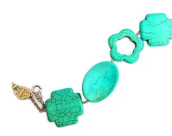 Gemstone turquoise Bracelet