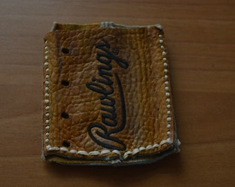 Card Holder/Wallet from Old Baseball Glove