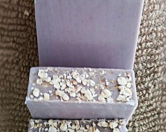 Lavender, Vanilla, Oatmeal Soap Bar-All Natural Soap-Lavender Soap-Shea Butter Soap-Natural Soap-Handmade Soap-Purple Soap-Gentle Soap