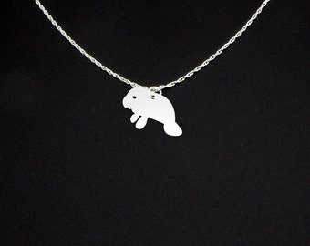 Manatee Necklace - Manatee Jewelry - Manatee Gift