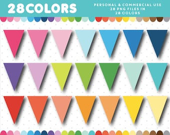Traiangle Bunting flag clipart, Triangle Banner flag clipart, Bunting banner clipart, Bunting clipart Banner clipart Bunting banners, CL-695