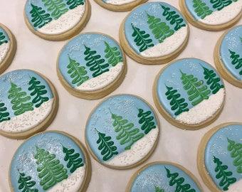 Winter Snow Globe Cookies