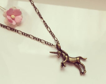 Long chain with Unicorn, unicorn, fantasy, vintage