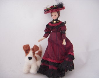 Custom needle felted wire haired terrier Art  - small sized - Personalised Dolls House Dog Sculpture