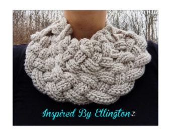 Double Braided Crochet Cowl
