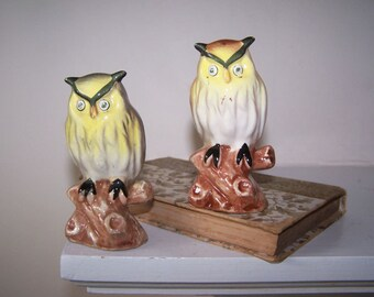 Owl Figurines, Made in Japan, Bird Figurines, Ceramic Birds, Owl Ornament, Collectible Owls, Vintage Owls