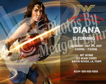 DC Wonder Woman Birthday Invitations *DIGITAL*