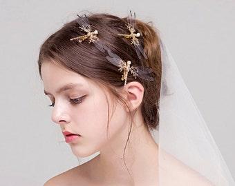 Handmade Dragonfly Hairclip