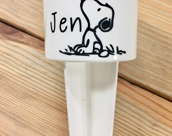 "Personalized ""snoopy"" Beach Spiker ~ Cup Holder   ~"