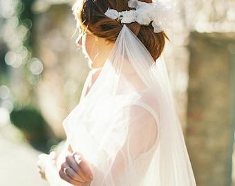 Wedding hair accessories, Headpiece, Bridal Headpiece, Lace, Hair comb - Style 316