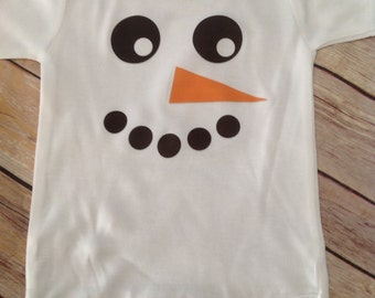 Snowman Baby One Piece (Custom Colors/Wording)