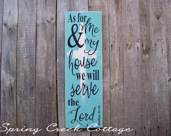 Signs, Joshua 24:15, Word Art, Scripture Art, Handpainted, Wood Signs, Inspirational Sayings, Typography, Home Decor, Rustic