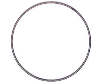 "Metal Hoop Ring For Crafts 2"" 3602-02"