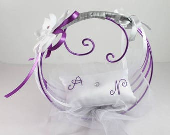original and personalized ring bearer white purple