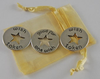 Set of 3 Wish Pocket Pieces with Organza Bag