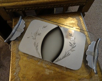 Vintage Art Deco Vanity Mirror Shabby Cottage Chic