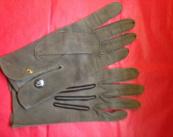 vintage speare table cut suede gloves