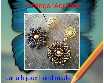 "Earrings ""Adronia"" photo tutorial PDF"