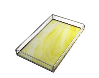 Tray Yellow Stained Glass - Large