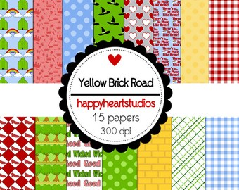 Digital Scrapbooking Yellow Brick Road- INSTANT DOWNLOAD