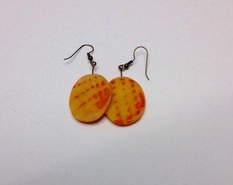 Orange and Tangerine Translucent Earrings
