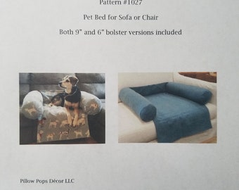 Sewing Pattern #1027 - for buyer to make a Pet Bed for Sofa or Chair