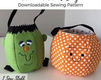 SEWING PATTERN Trick or Treat Bag PDF Digital Download