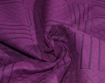 """Purple Quilted Faux Suede fabric 58"""" Wide"""