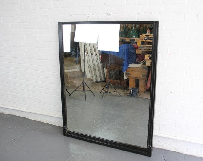 Large Ebonised Early 20th Century Mirror