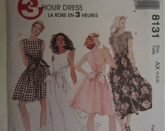 McCall's 8131 Womens Dress Pattern Misses Sizes 4, 6, 8