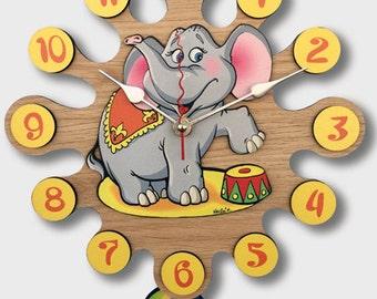 Pendulum Wall Clock Elephant