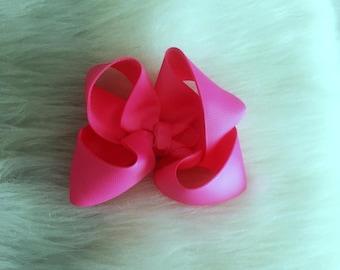 shocking pink, Girls Hair Bows, non slip, pink hair bow, girl hair bows, 4 inch hair bows, large hair bows, big hair bows, boutique bows