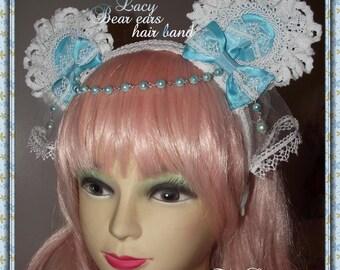 Lacy Bear Ears Hairband